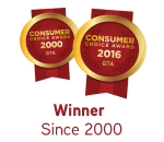 Consumer Choice Winner Since 2000 badges